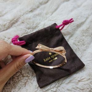 Rose Gold Kate Spade Bow Bracelet